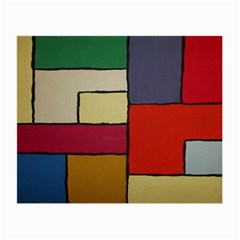 Color Block Art Painting Small Glasses Cloth (2 Side)