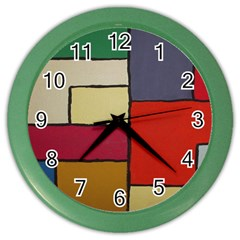 Color Block Art Painting Color Wall Clocks