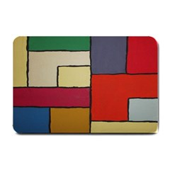 Color Block Art Painting Small Doormat  by goodart