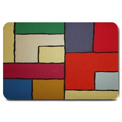 Color Block Art Painting Large Doormat  by goodart