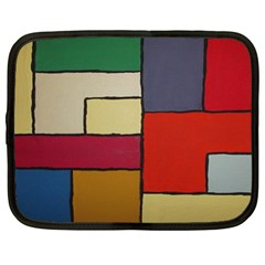 Color Block Art Painting Netbook Case (large) by goodart