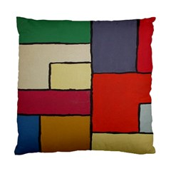 Color Block Art Painting Standard Cushion Case (one Side)