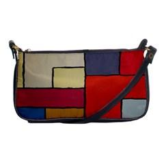 Color Block Art Painting Shoulder Clutch Bags