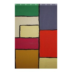 Color Block Art Painting Shower Curtain 48  X 72  (small)