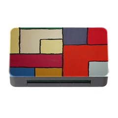 Color Block Art Painting Memory Card Reader With Cf