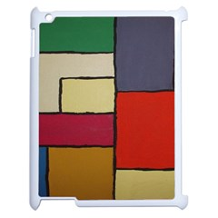 Color Block Art Painting Apple Ipad 2 Case (white)