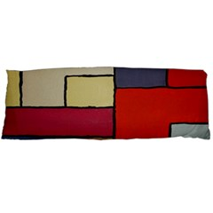 Color Block Art Painting Body Pillow Case (dakimakura)