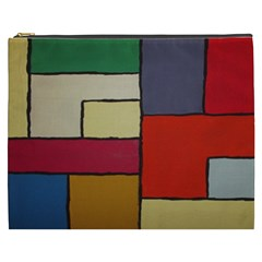 Color Block Art Painting Cosmetic Bag (xxxl)