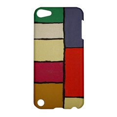 Color Block Art Painting Apple Ipod Touch 5 Hardshell Case by goodart