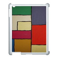 Color Block Art Painting Apple Ipad 3/4 Case (white) by goodart