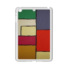 Color Block Art Painting Ipad Mini 2 Enamel Coated Cases by goodart