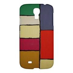 Color Block Art Painting Samsung Galaxy S4 I9500/i9505 Hardshell Case by goodart