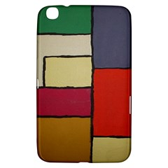 Color Block Art Painting Samsung Galaxy Tab 3 (8 ) T3100 Hardshell Case  by goodart