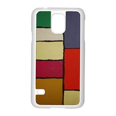 Color Block Art Painting Samsung Galaxy S5 Case (white) by goodart