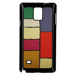 Color Block Art Painting Samsung Galaxy Note 4 Case (black)