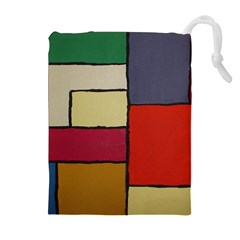 Color Block Art Painting Drawstring Pouches (extra Large)