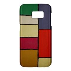 Color Block Art Painting Samsung Galaxy S7 Hardshell Case  by goodart