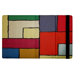 Color Block Art Painting Apple Ipad Pro 9 7   Flip Case
