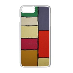 Color Block Art Painting Apple Iphone 7 Plus Seamless Case (white)