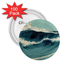 Waves Painting 2 25  Buttons (100 Pack)