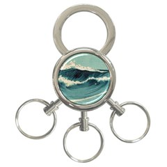 Waves Painting 3 Ring Key Chains