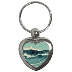 Waves Painting Key Chains (heart)