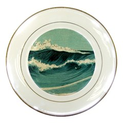 Waves Painting Porcelain Plates