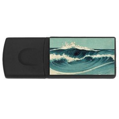 Waves Painting Rectangular Usb Flash Drive