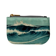 Waves Painting Mini Coin Purses