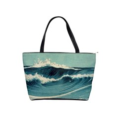 Waves Painting Shoulder Handbags