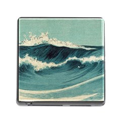 Waves Painting Memory Card Reader (square)