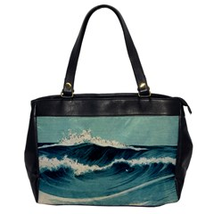 Waves Painting Office Handbags
