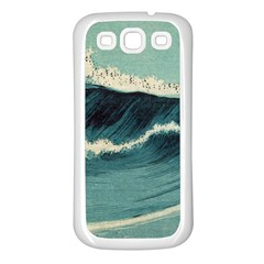 Waves Painting Samsung Galaxy S3 Back Case (white)