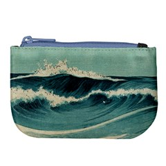 Waves Painting Large Coin Purse