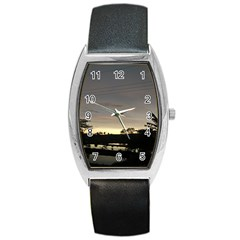 Photography Sunset Barrel Style Metal Watch