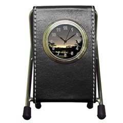 Photography Sunset Pen Holder Desk Clocks