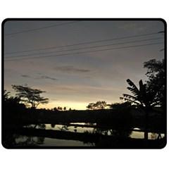 Photography Sunset Fleece Blanket (medium)