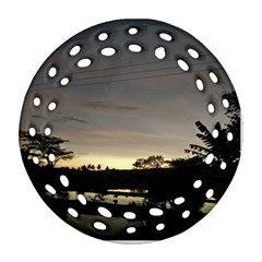 Photography Sunset Round Filigree Ornament (two Sides)