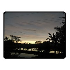 Photography Sunset Double Sided Fleece Blanket (small)
