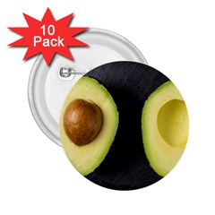 Fruit Avocado 2 25  Buttons (10 Pack)