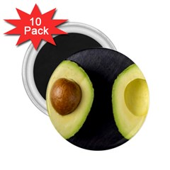 Fruit Avocado 2 25  Magnets (10 Pack)