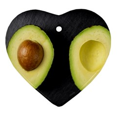 Fruit Avocado Heart Ornament (two Sides)