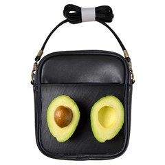 Fruit Avocado Girls Sling Bags