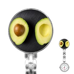 Fruit Avocado Stainless Steel Nurses Watch