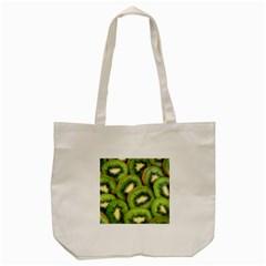 Sliced And Open Kiwi Fruit Tote Bag (cream) by goodart