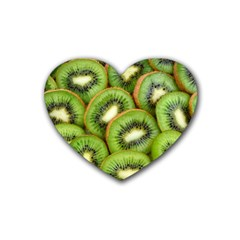 Sliced And Open Kiwi Fruit Heart Coaster (4 Pack)  by goodart