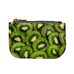 Sliced And Open Kiwi Fruit Mini Coin Purses
