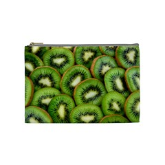 Sliced And Open Kiwi Fruit Cosmetic Bag (medium)  by goodart