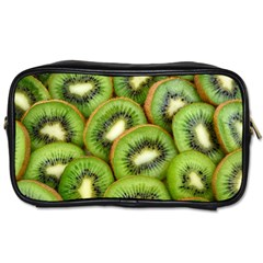 Sliced And Open Kiwi Fruit Toiletries Bags 2 Side by goodart