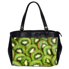 Sliced And Open Kiwi Fruit Office Handbags (2 Sides)